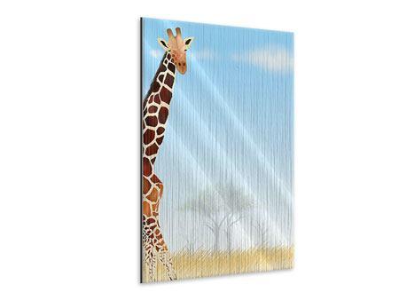 Metallic-Bild Giraffenfreund