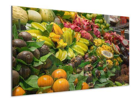 Metallic-Bild Früchte