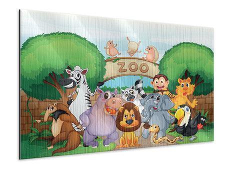 Metallic-Bild Der lustige Zoo