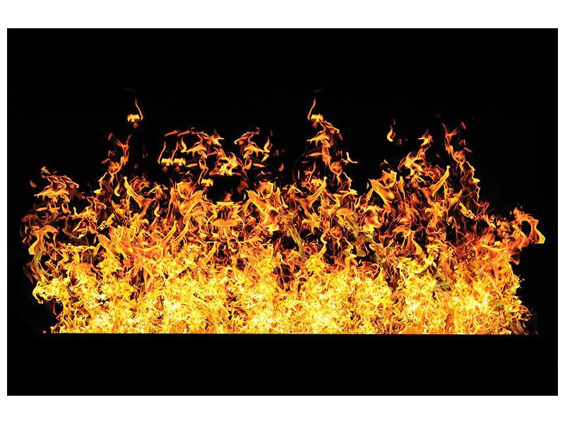 Metallic-Bild Moderne Feuerwand