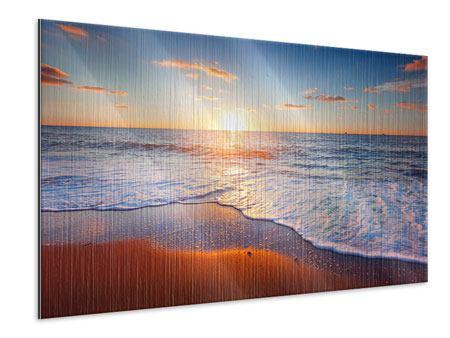 Metallic-Bild Sonnenuntergang am Horizont