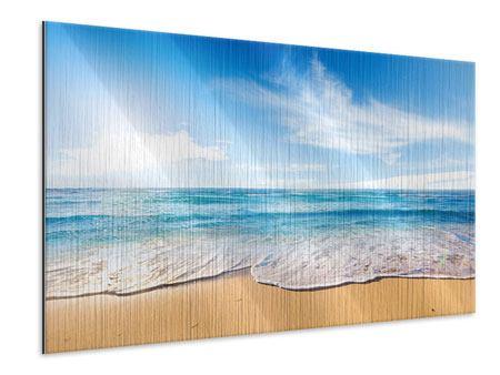 Metallic-Bild Spuren im Sand
