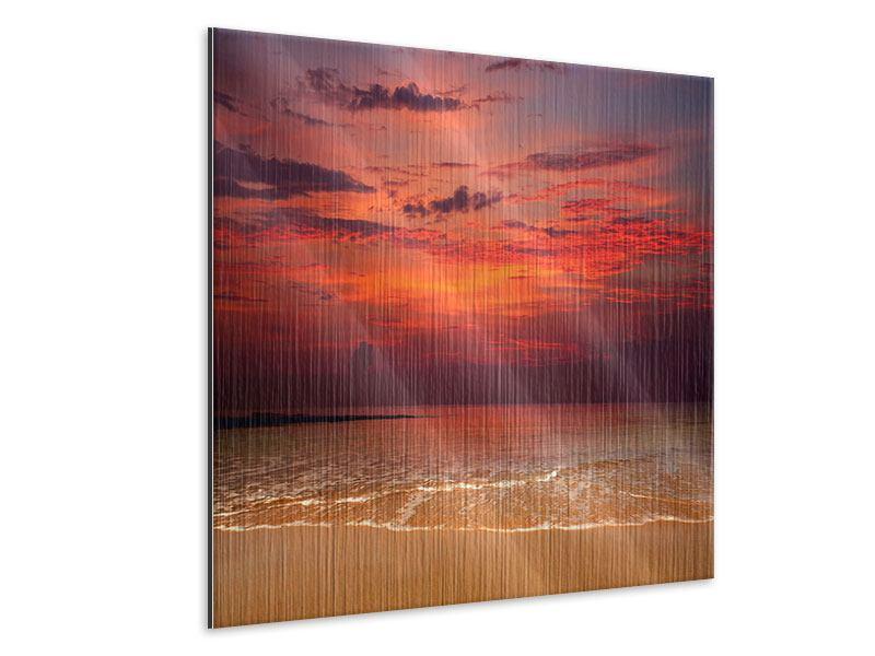 Metallic-Bild Zeile auf den Sand