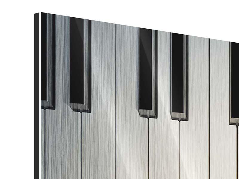 Metallic-Bild Klaviertasten