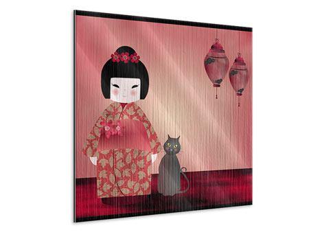 Metallic-Bild Chinese Girl