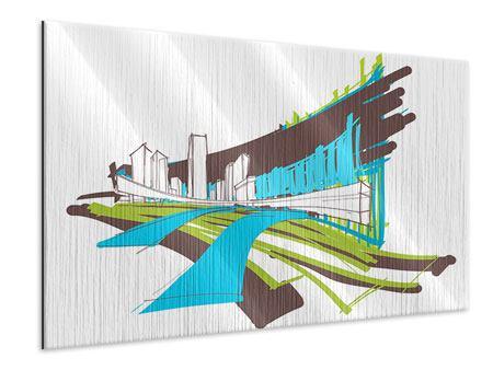 Metallic-Bild Graffiti Street-Art