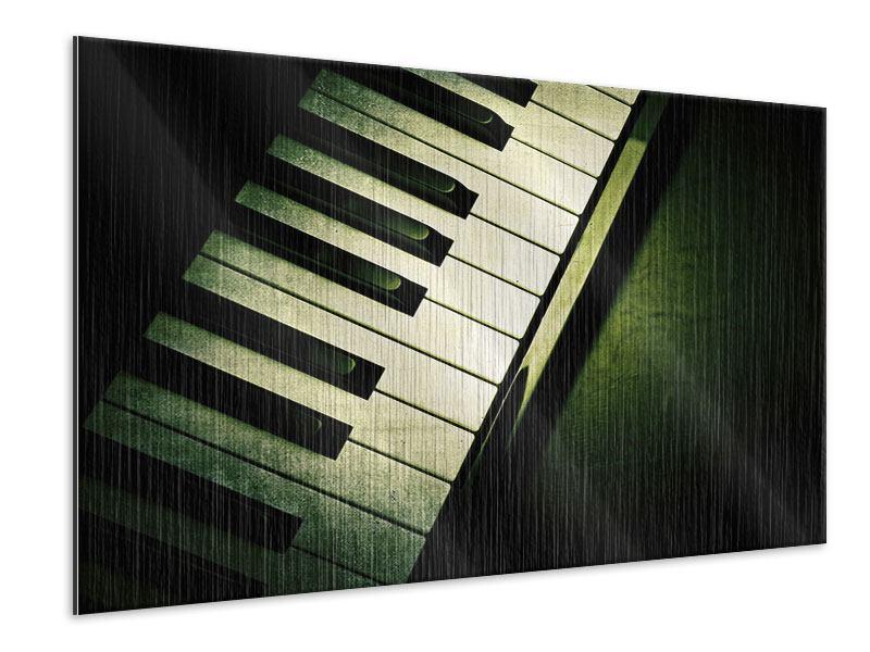 Metallic-Bild Close Up Klavier