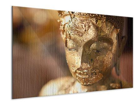 Metallic-Bild Kopf eines Buddhas