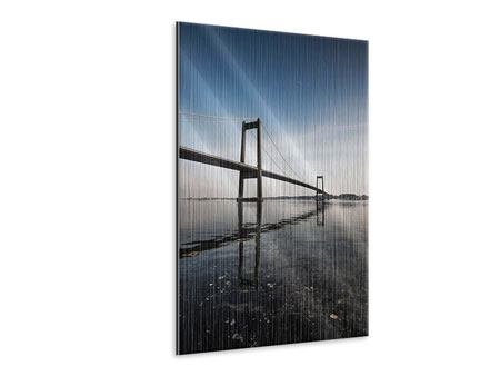 Metallic-Bild Moderne Brücke