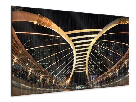 Metallic-Bild Avantgardistische Brücke
