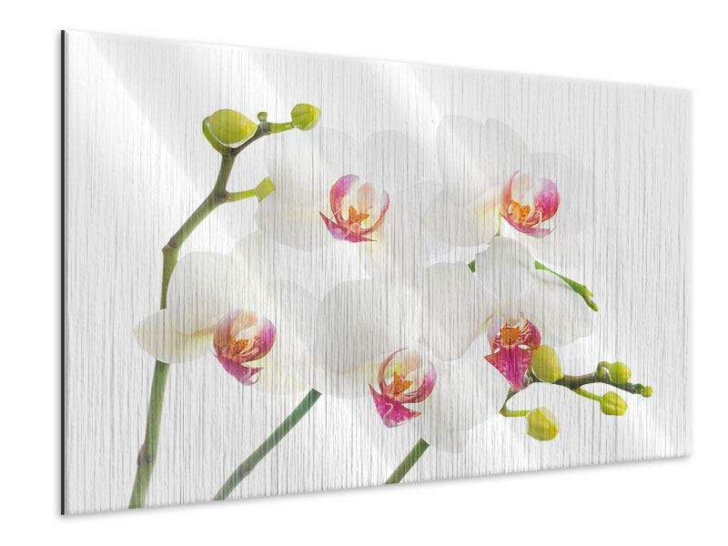 Metallic-Bild Orchideenliebe