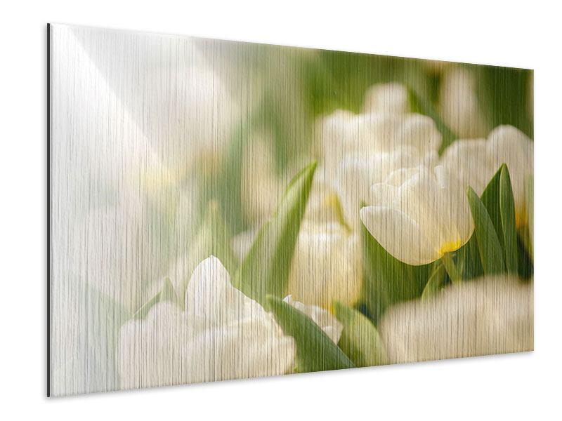 Metallic-Bild Tulpenperspektive