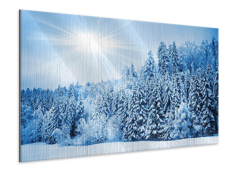 Metallic-Bild Wintermärchen