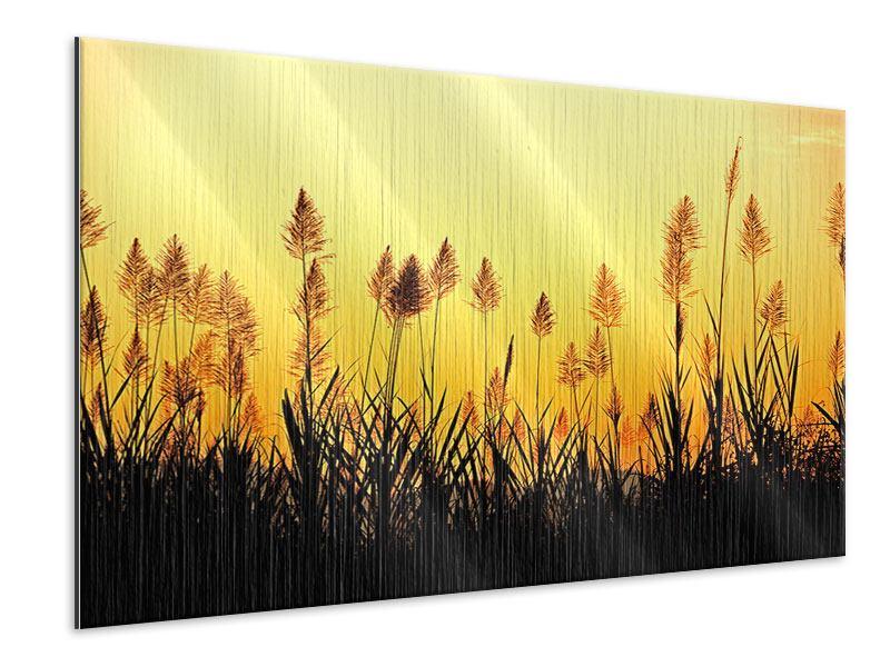 Metallic-Bild Die Blumen des Feldes