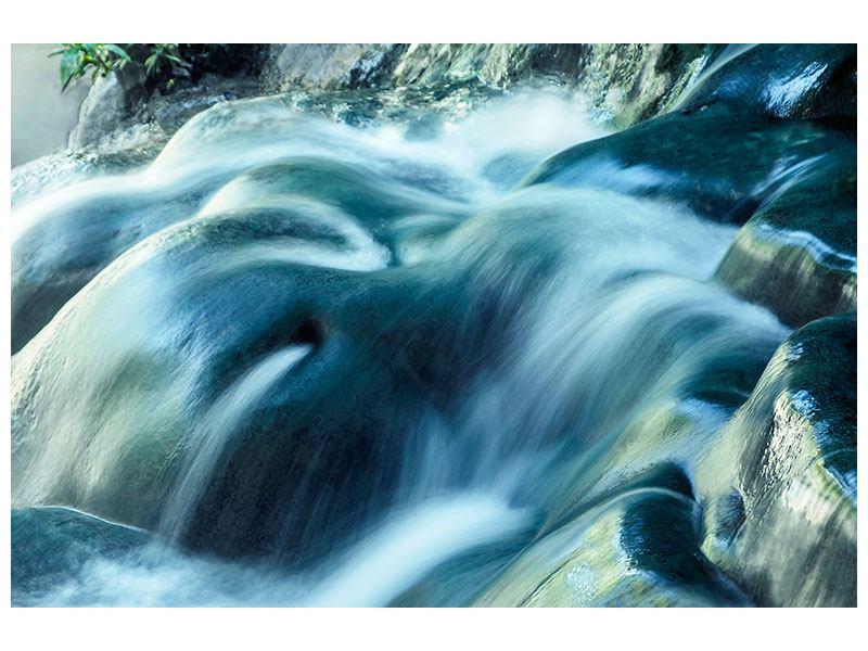 Metallic-Bild Das Fliessende Wasser