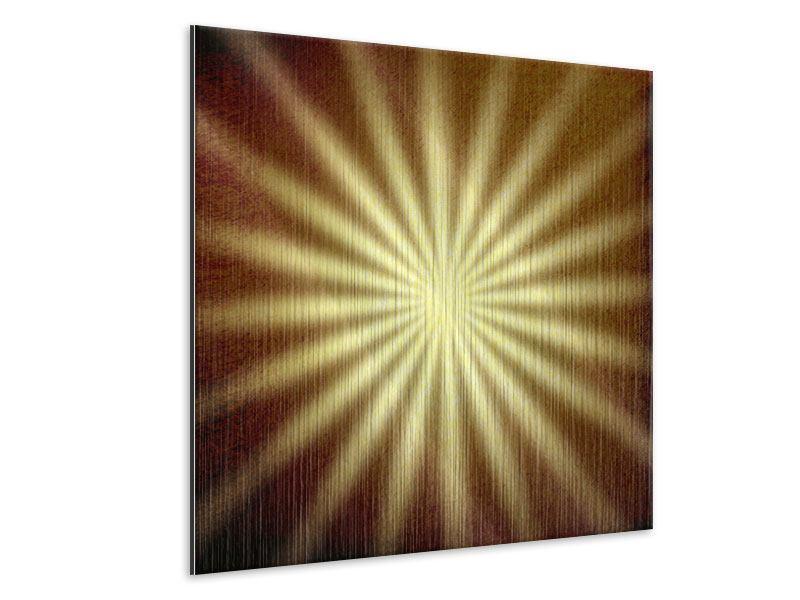 Metallic-Bild Abstrakte Sonnenstrahlen