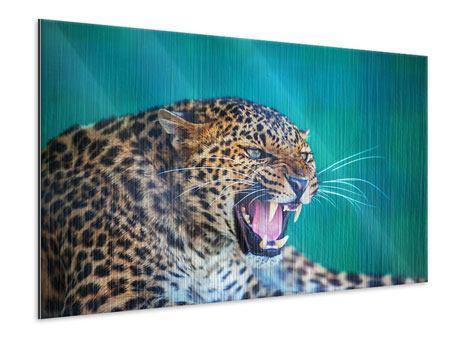 Metallic-Bild Achtung Leopard
