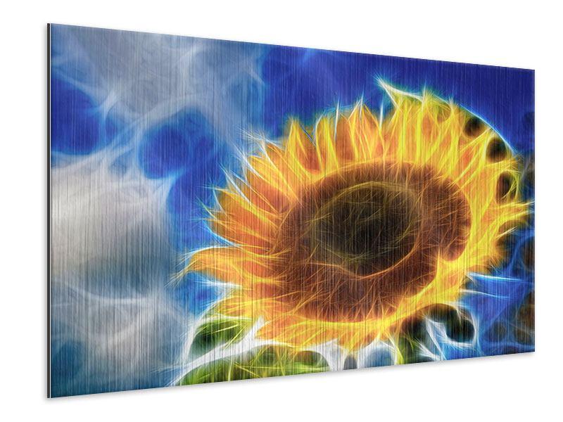 Metallic-Bild Der Sonne entgegen