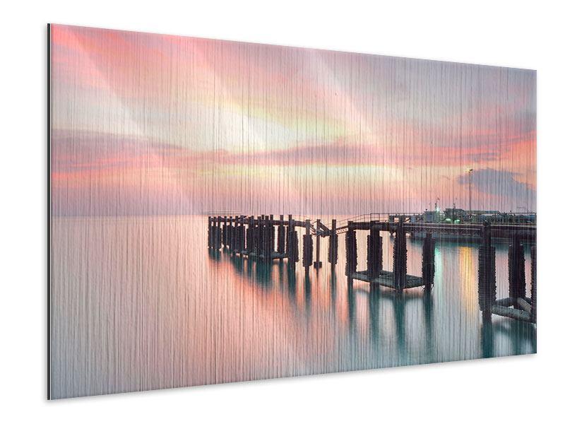 Metallic-Bild Der beruhigende Sonnenuntergang