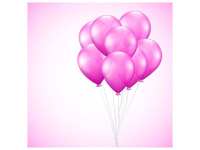 Metallic-Bild Rosarote Luftballons