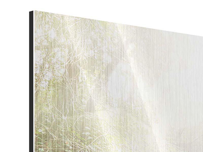Metallic-Bild Die grüne Lagune