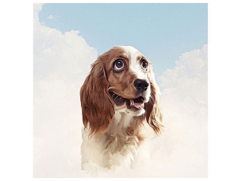 Metallic-Bild Fröhlicher Hund