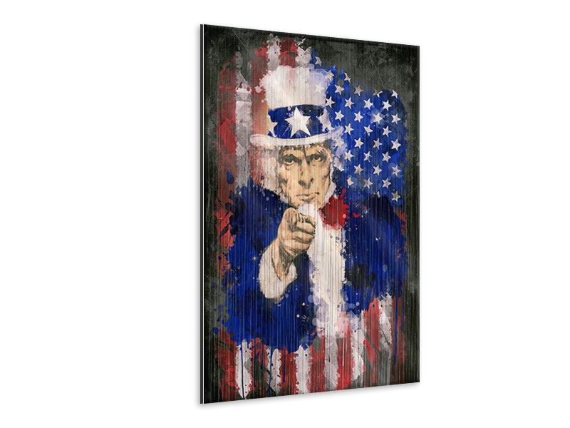 Metallic-Bild Uncle Sam
