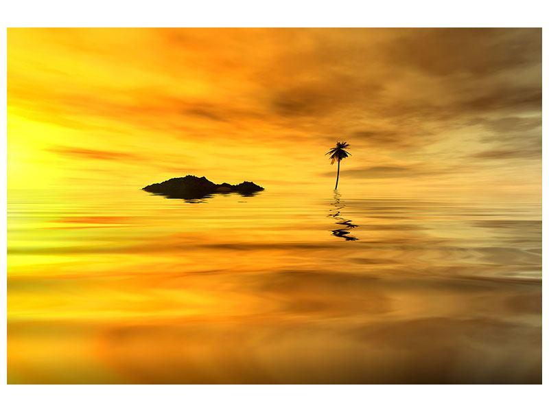 Metallic-Bild Ab auf die Insel
