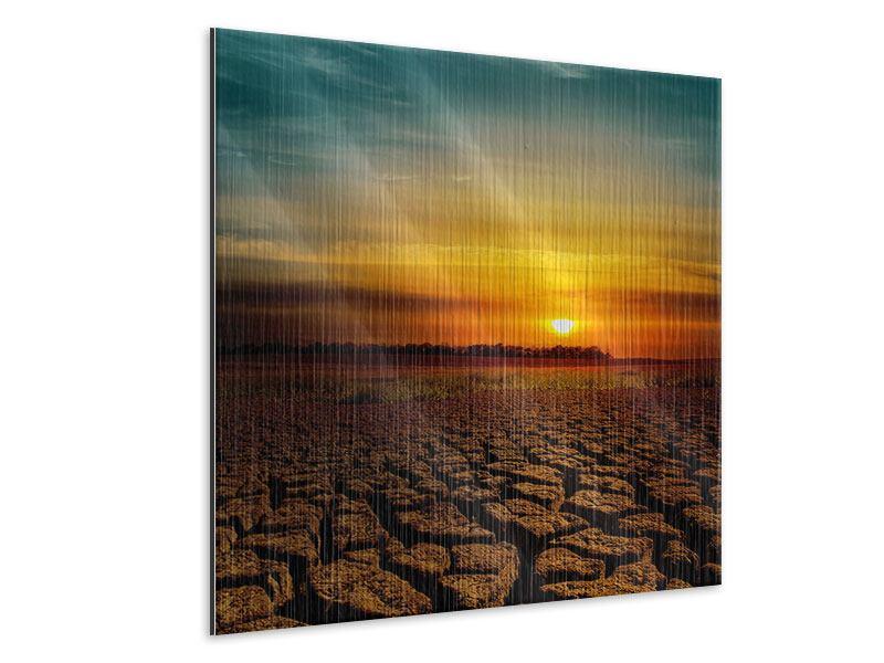 Metallic-Bild Afrikas Dürre