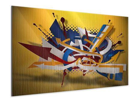 Metallic-Bild Graffiti Art