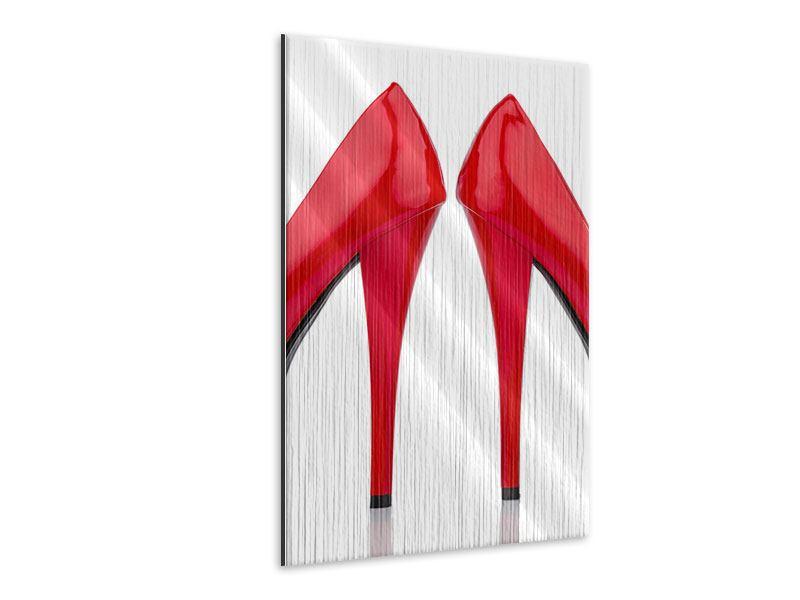 Metallic-Bild Close Up High Heels
