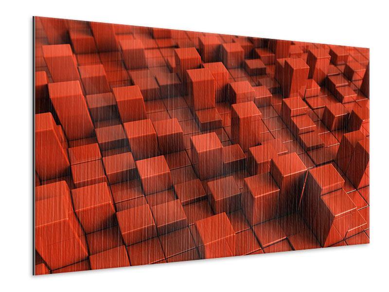 Metallic-Bild 3D-Rechtkant