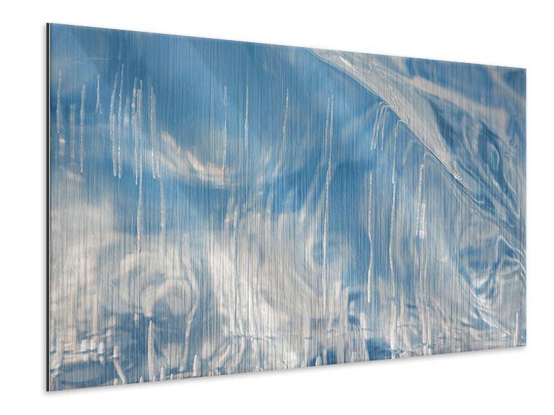 Metallic-Bild Das Eis des Baikalsees