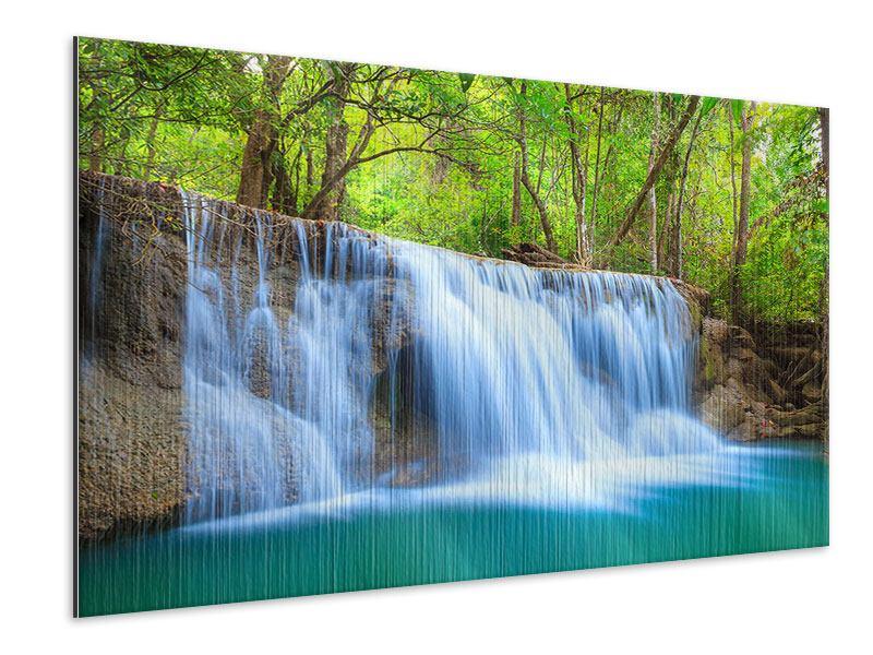 Metallic-Bild Wasserfall Si Nakharin