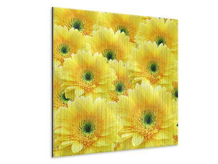 Metallic-Bild Flower Power Blumen