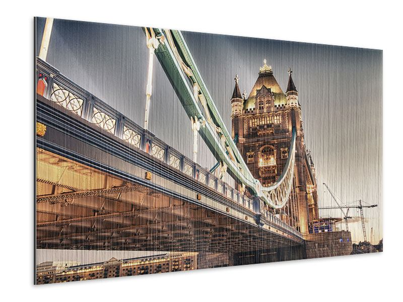 Metallic-Bild Tower Bridge XXL