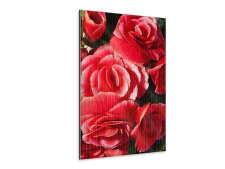 Metallic-Bild Rote Rosen