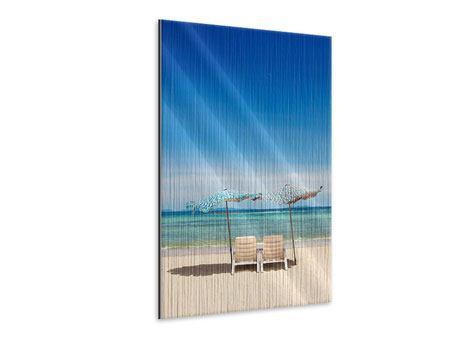Metallic-Bild Ein Sonnenbad