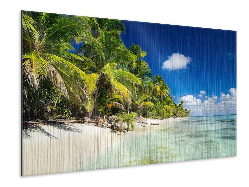 Metallic-Bild Die einsame Insel