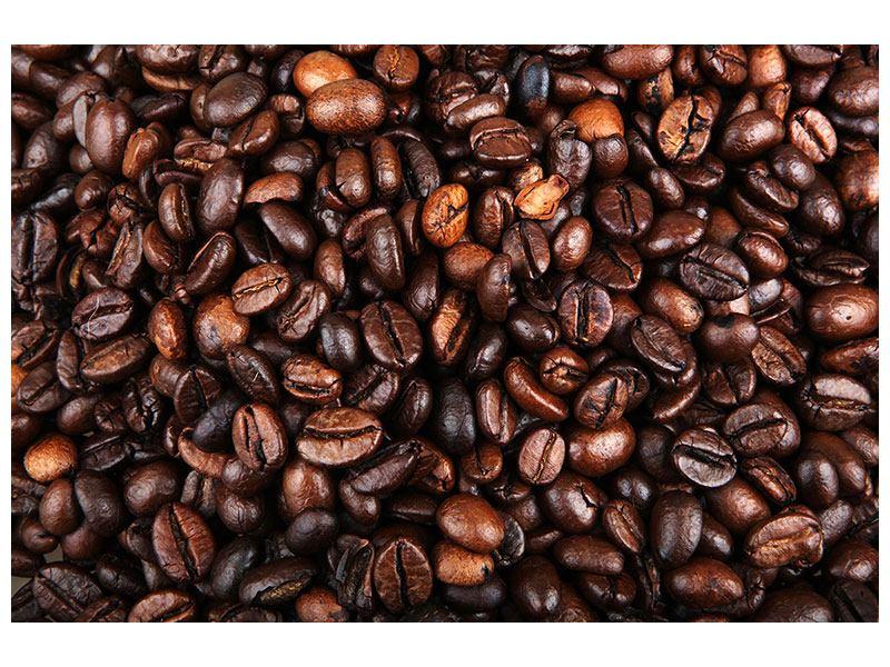 Metallic-Bild Kaffeebohnen in XXL