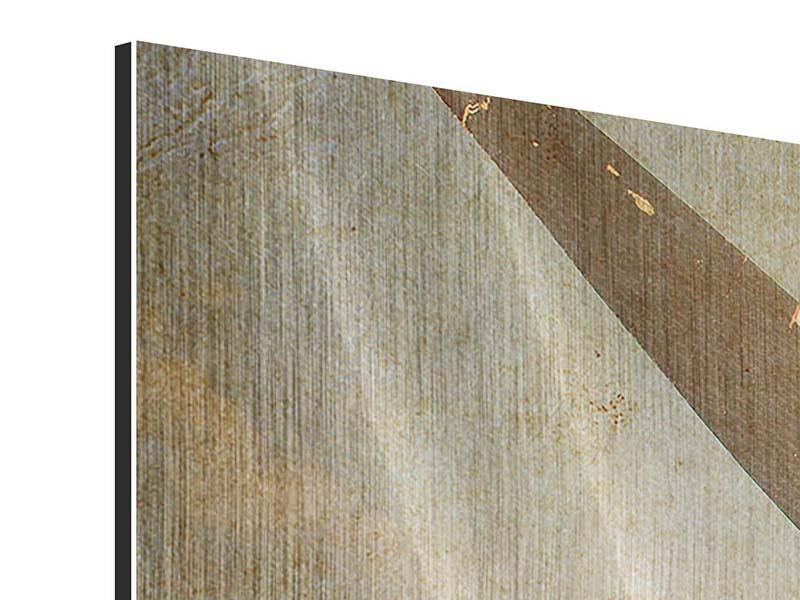 Metallic-Bild Propellerflugzeug im Grungestil