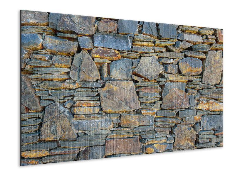 Metallic-Bild Natürliche Steinmauer