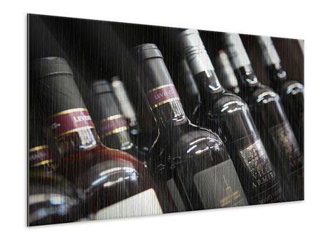 Metallic-Bild Flaschenweine