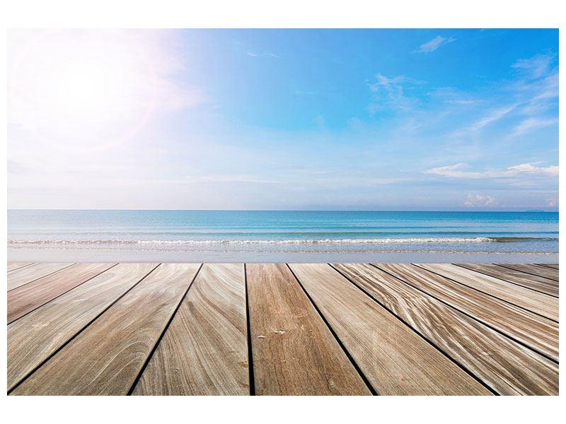 Metallic-Bild Das schöne Strandhaus