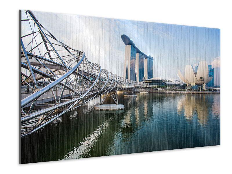 Metallic-Bild Singapur