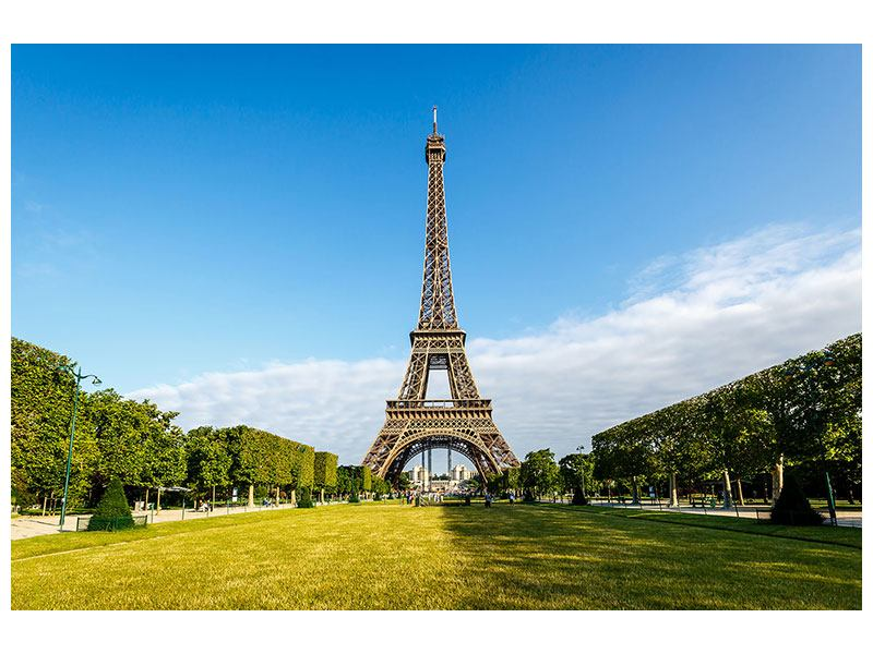 Metallic-Bild Der Eiffelturm in Paris