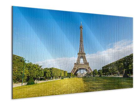 Metallic-Bild Der Eiffelturm in Paris