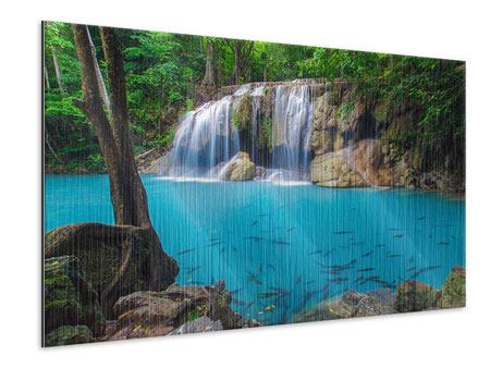 Metallic-Bild Naturerlebnis Wasserfall