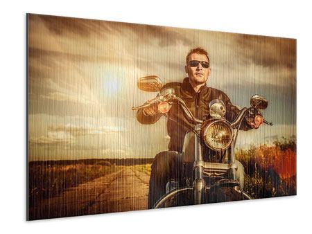 Metallic-Bild Der Coole Biker