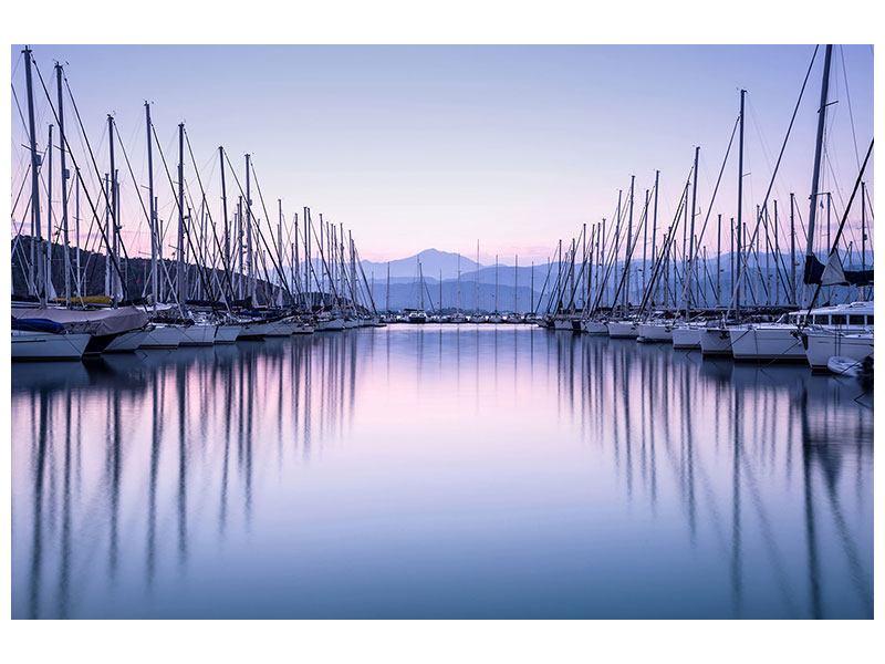 Metallic-Bild Yachthafen